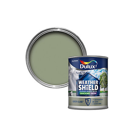 Dulux weathershield exterior glade green satin wood - Weathershield exterior paint system ...