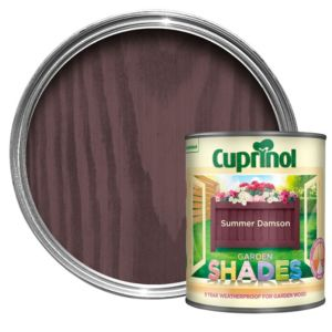View Cuprinol Garden Shades Summer Damson Wood Paint 1L details