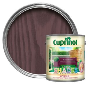 View Cuprinol Garden Shades Summer Damson Matt Woodstain 2.5L details