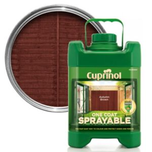 View Cuprinol One Coat Autumn Brown Sprayable Fence Treatment 5L details