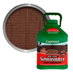View Cuprinol One Coat Harvest Brown Sprayable Fence Treatment 5L details