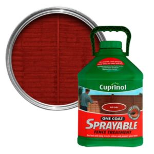 View Cuprinol One Coat Rich Cedar Sprayable Fence Treatment 5L details