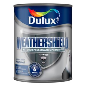 View Dulux Weathershield Clear Primer & Preserver 750ml Tin details