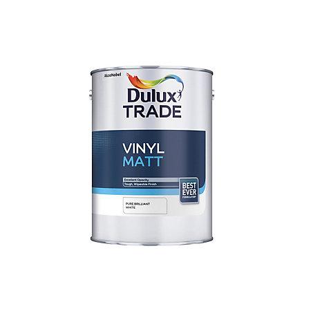 Dulux Trade Matt Emulsion Paint Pure Brilliant White L