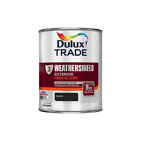 Dulux trade exterior black gloss wood metal paint 1l tin departments tradepoint - Dulux exterior gloss paint style ...