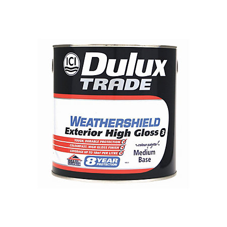 Dulux Weathershield Exterior Medium Base Gloss Wood Paint 2 5l Departments Diy At B Q