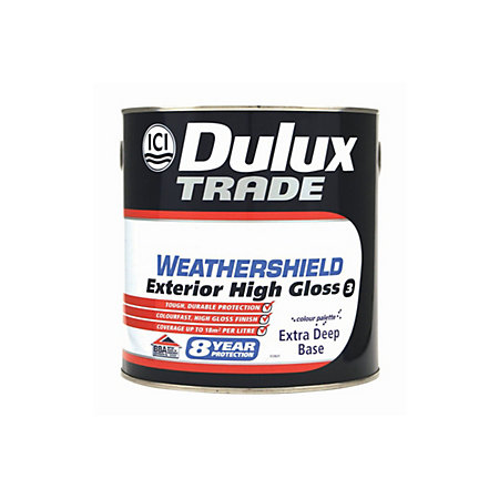Dulux weathershield exterior extra deep base gloss wood paint 2 5l departments diy at b q - Dulux weathershield exterior paint minimalist ...