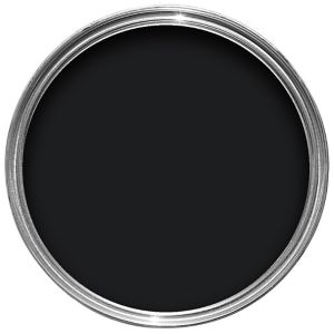 Image of Dulux Trade Black High gloss Wood & metal paint 1L