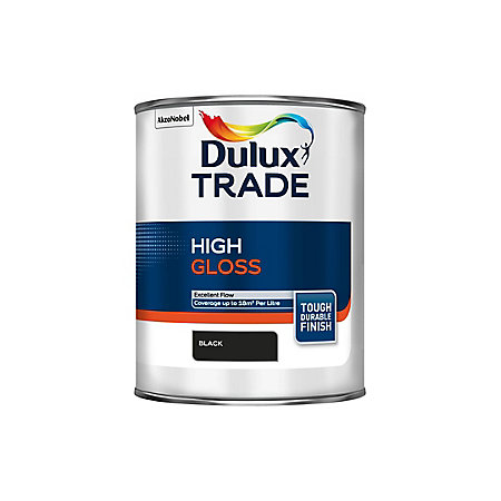 Dulux Trade Interior Black High Gloss Wood Metal Paint 1l Departments Tradepoint