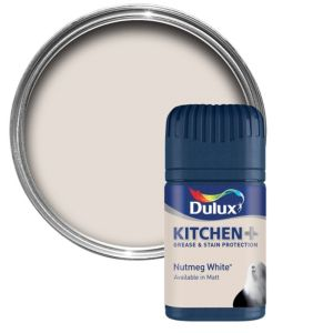White Kitchen Emulsion dulux kitchen nutmeg white matt emulsion paint 50ml tester pot