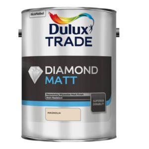 Image of Dulux Trade Diamond Magnolia Matt Emulsion paint 5L