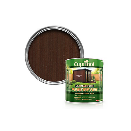 Cuprinol Ultimate Country Oak Matt Garden Wood Preserver 4000ml Departments Tradepoint