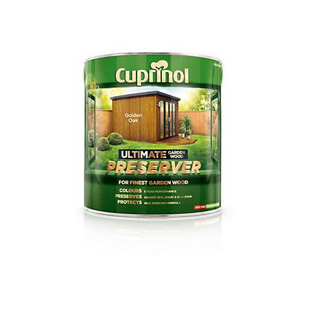 Cuprinol Ultimate Golden Oak Matt Garden Wood Preserver 4000ml Departments Tradepoint