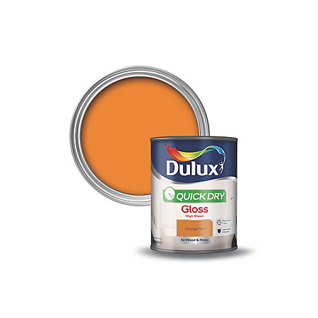 dulux interior orange fizz gloss wood metal paint 750ml