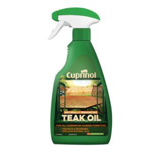 Cuprinol Naturally Enhancing Clear Teak Oil 500ml Spray