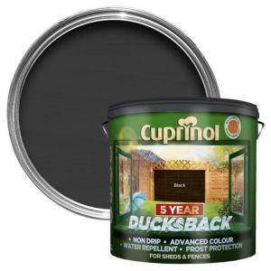 Image of Cuprinol 5 Year Ducksback Black Matt Shed & fence treatment 9L