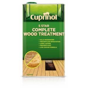 Image of Cuprinol 5 star Clear Complete wood treatment 1L