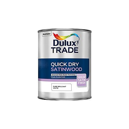 dulux trade internal pure brilliant white satinwood paint. Black Bedroom Furniture Sets. Home Design Ideas