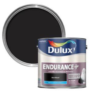 Photo of Dulux endurance rich black matt wall & ceiling paint 2.5l