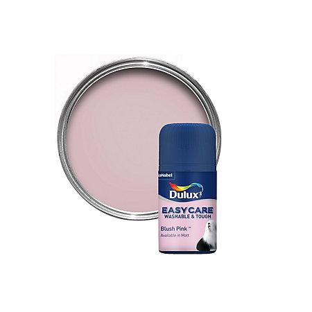 dulux easycare blush pink matt emulsion paint tester. Black Bedroom Furniture Sets. Home Design Ideas