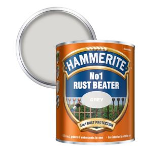Image of Hammerite Rust beater Grey Metal Primer 0.75L