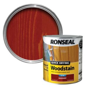 View Ronseal Quick Dry Mahogany Satin Woodstain 2.5L details