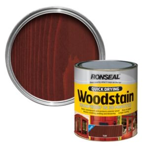 View Ronseal Quick Dry Teak Satin Woodstain 250ml details