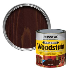 View Ronseal Quick Dry Walnut Satin Woodstain 250ml details