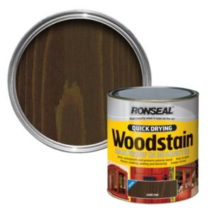 View Ronseal Quick Dry Dark Oak Satin Woodstain 250ml details