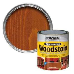 View Ronseal Quick Dry Antique Pine Woodstain 250ml details