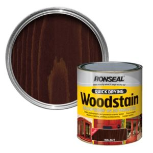 View Ronseal Quick Dry Walnut Gloss Woodstain 750ml details