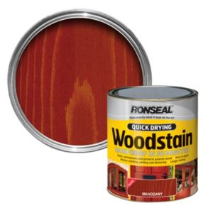 View Ronseal Quick Dry Mahogany Gloss Woodstain 750ml details