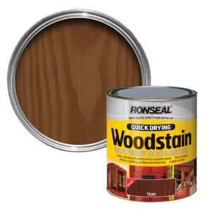 View Ronseal Quick Dry Teak Woodstain 750ml details