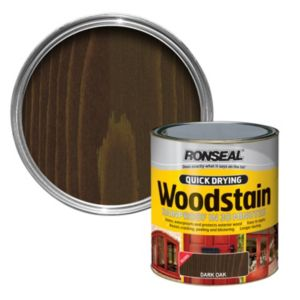 View Ronseal Quick Dry Dark Oak Woodstain 750ml details