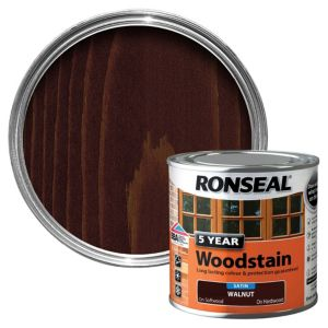 View Ronseal 5 Year Walnut High Satin Sheen Woodstain 250ml details