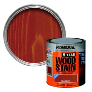 View Ronseal 5 Year Mahogany High Satin Sheen Woodstain 250ml details