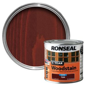 View Ronseal 5 Year Teak High Satin Sheen Woodstain 250ml details