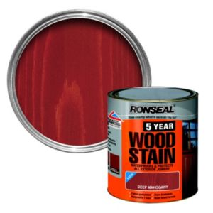 View Ronseal 5 Year Deep Mahogany High Satin Sheen Woodstain 250ml details