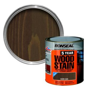 View Ronseal 5 Year Dark Oak High Satin Sheen Woodstain 250ml details