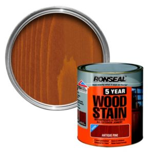 View Ronseal 5 Year Antique Pine High Satin Sheen Woodstain 750ml details