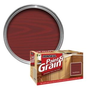View Ronseal Paint & Grain Deep Mahogany Special Effect Paint 1.5L details
