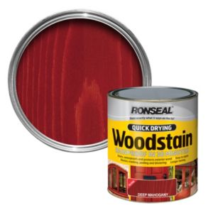 View Ronseal Quick Dry Deep Mahogany Gloss Woodstain 750ml details