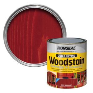 View Ronseal Quick Dry Deep Mahogany Satin Woodstain 2.5L details