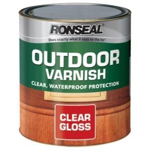Image of Ronseal Outdoor Clear Gloss Outdoor varnish 2.5L