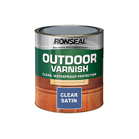 Ronseal Satin Outdoor Varnish 750ml Departments Diy At B Q