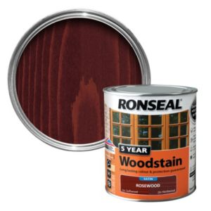View Ronseal 5 Year Rosewood High Satin Sheen Woodstain 750ml details