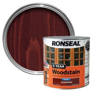 View Ronseal 5 Year Rosewood High Satin Sheen Woodstain 2.5L details