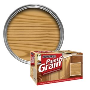 View Ronseal Paint & Grain Rustic Oak Special Effect Paint 1.5L details