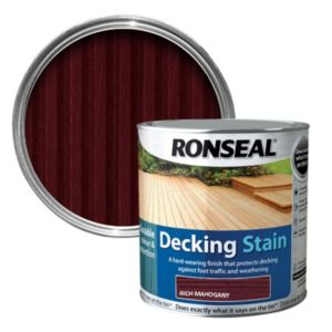 View Ronseal Rich Mahogany Matt Decking Stain 2.5L details