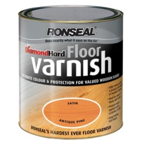 View Ronseal Diamond Hard Antique Pine Satin Floor Varnish 2.5L details